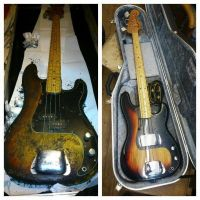 1976 Fender Precision bass , body refinish © 2020 Guitar Angel