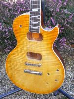 Les Paul finished in amber burst nitro cellulose © 2017 Guitar Angel