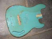 Fender Precision bass 1966, rare daphne blue body restoration © 2018 Guitar Angel