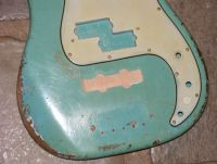 Fender Precision bass 1966 daphne blue, rout repairs © 2018 Guitar Angel