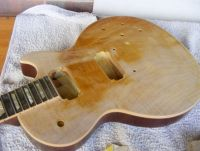 Gibson Les Paul top refinish natural nitrocellulose © 2019 Guitar Angel