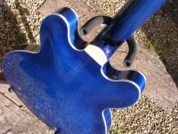 blue tinted nitrocellulose on maple © 2018 Guitar Angel