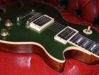 Gibson Les Paul refinished in green tinted Pelham blue nitrocellulose © 2017 Guitar Angel