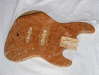 Clear nitrocellulose lacquer on burl maple © 2018 Guitar Angel