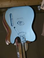 Fender USA tele body, repaired routs and refinished in Pelham blue metallic nitro © 2019 Guitar Angel