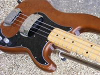 1977 Fender precision bass walnut/mocha fretwork and setup © 2020 Guitar Angel