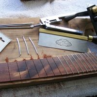 Some fretting tools including fret bender and tang cutter © 2017 Guitar Angel
