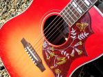 Gibson Hummingbird, saddle work, set up, paint damage repair, pickguard refit © 2020 Guitar Angel